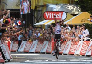 Тур де Франс. Алафіліпп виграв 16 етап, який доводилось призупиняти