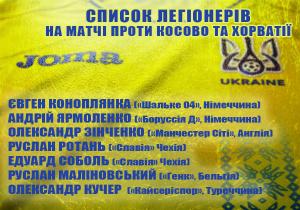 ЧС-2018. Шевченко викликав 7 легіонерів на Косово та Хорватію