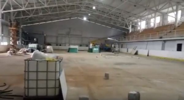 Как идет реконструкция ледовой арены Кременчуга (ВИДЕО)