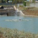 Біля «Донбас Арени» запрацював каскад водоспадів (ФОТО)