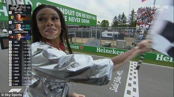 Формула-1. Модель сорвала финиш Гран-при Канады