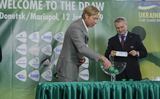 В «Донбас-Палас» відбулося жеребкування фінального турніру Євро-2009