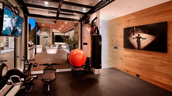 Дизайн тренажерного домашнего зала