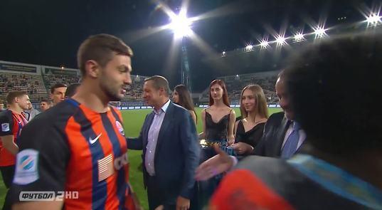 Церемонія нагородження переможця Кубка України (ВІДЕО)